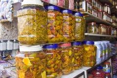 Индийское соленье ходит по магазинам в Индии Стоковая Фотография RF