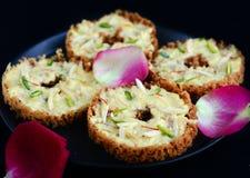 Индийское сладостное Ghevar стоковые фото