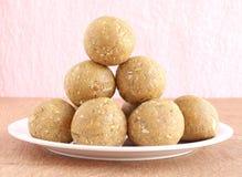 Индийское сладостное Laddu Стоковые Фотографии RF