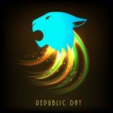 Индийское торжество дня республики с национальным символом Стоковые Изображения