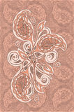 Индийское украшение цветка стоковые изображения rf