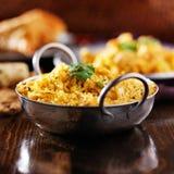 Индийское biryana цыпленка в balti dis Стоковые Изображения RF