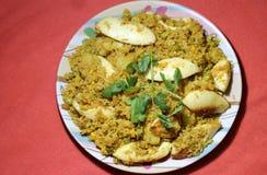 Индийское biryani риса яичка стиля Стоковые Фото