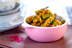 Индийское masala bhindi Стоковые Фото