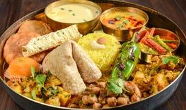 Индийское Thali стоковое изображение