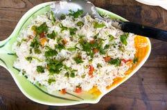Индийское vegetable блюдо pulao с рисом и овощами Стоковые Изображения RF