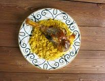 Индийск-spiced нога овечки Стоковое Изображение RF