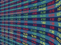 Индикаторная панель ежедневной фондовой биржи бесплатная иллюстрация