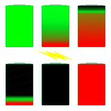 Индикаторы времени работы от батарей Стоковое Изображение RF
