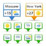 Иконы погоды Стоковое Фото