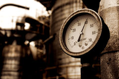 Индикатор газа метра давления Стоковые Изображения