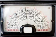 Индикатор колебаний радио стоковые фотографии rf
