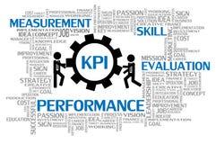 Индикатор ключевой производительности или KPI бесплатная иллюстрация