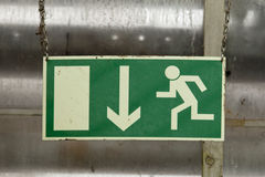 Индикатор маршрута побега Стоковое Изображение