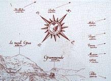 Индикатор расстояние от Монако к… стоковая фотография