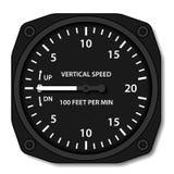 Индикатор скорости по вертикали вариометра авиации иллюстрация вектора