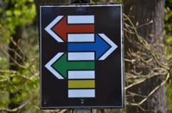 Индикатор туриста перемещения Стоковые Изображения