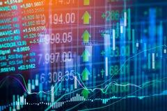 Индикатор фондовой биржи и взгляд финансовых данных от СИД двойник стоковое фото rf