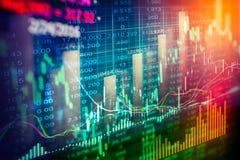 Индикатор фондовой биржи и взгляд финансовых данных от СИД двойник стоковая фотография rf
