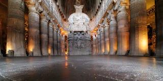 Индия, пещера Ajanta буддийская Стоковое Изображение