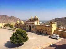 Индия jaipur янтарный форт стоковые фотографии rf