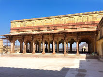 Индия jaipur янтарный форт стоковое фото