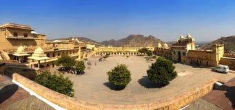 Индия jaipur янтарный форт стоковое фото rf