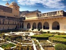Индия jaipur янтарный форт стоковое изображение