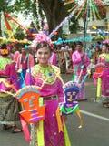 Индонезийская девушка на фестивале искусств Стоковое фото RF