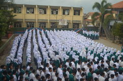 Индонезийская жизнь школы Стоковые Изображения RF