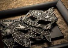 Индонезийская металлическая пластинка отличая различными типами waus Стоковое Изображение