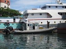 Индонезийская шлюпка полиций воды Стоковые Изображения RF