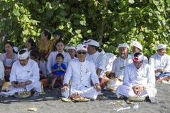 Индонезийские люди празднуют балийский Новый Год и прибытие весны Стоковая Фотография