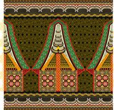 Индонезийский мотив батика Стоковая Фотография