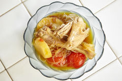 Индонезийское тушёное мясо цыпленка Стоковая Фотография