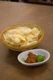 Индонезийское kerupuk Krupuk еды Стоковая Фотография RF
