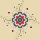 Индусская мандала иллюстрация вектора