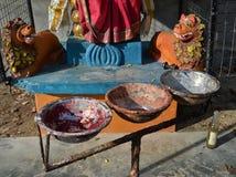 Индусские золы молитве Стоковая Фотография