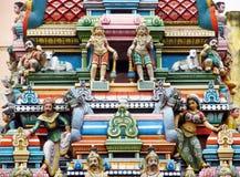 Индусские красочные статуи в Индии стоковая фотография