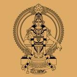 Индусский бог иллюстрация штока