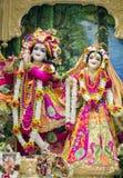 Индусский бог Krishna с его женой Radha Стоковое Изображение RF