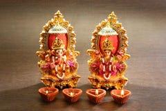 Индусский бог Laxmi Ganesh Стоковая Фотография
