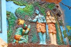 индусский висок Архитектурноакустический элемент Бог Hanuman Стоковое фото RF