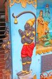 индусский висок Архитектурноакустический элемент Бог Hanuman Стоковое Изображение RF