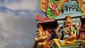 индусский висок Индии Кералы южный традиционный сток-видео
