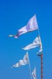 Индусский висок флагов Стоковая Фотография RF