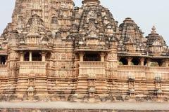 Индусский висок Khajuraho, lndia Стоковые Изображения