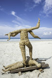 Индусский ритуал моря Стоковые Фото