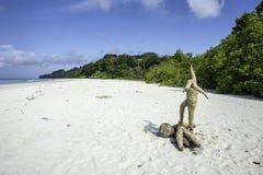 Индусский ритуал моря Стоковые Фотографии RF