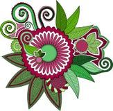 Индусский цветок стиля Стоковая Фотография